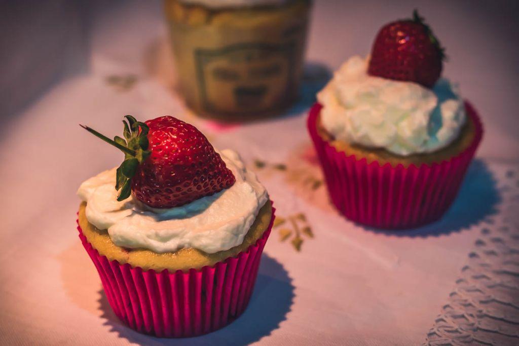 Receita Cupcake de Morango e Iogurte