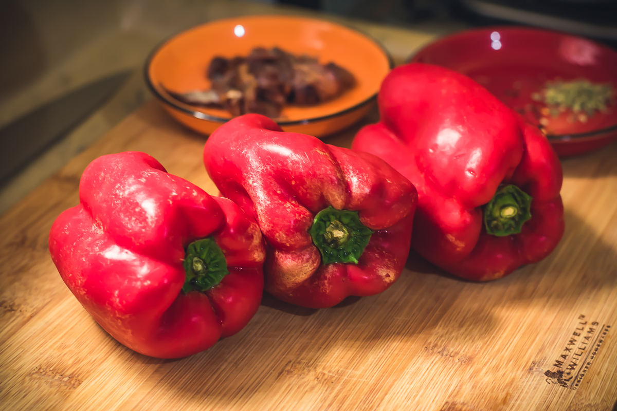 Receita de Sardela pimentões vermelhos